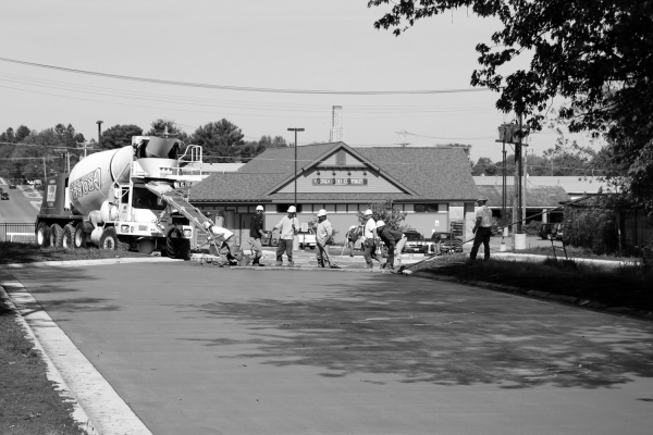 viroqua food coop new parking lot on center street viroqua wisconsin concrete workers