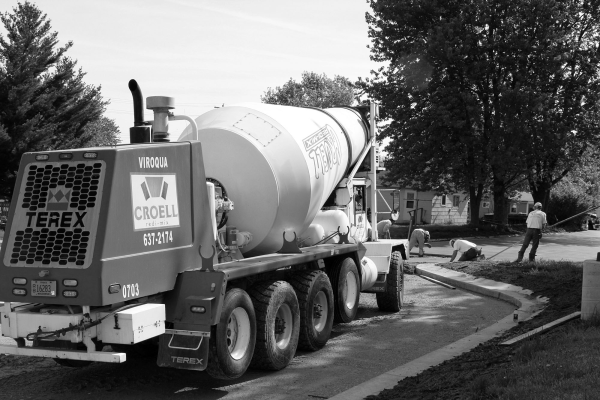 viroqua food coop new parking lot on center street viroqua wisconsin croell concrete truck