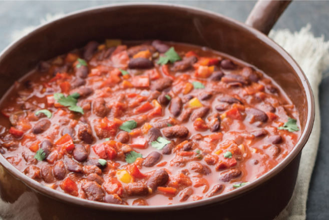2019 veggie chili with beer